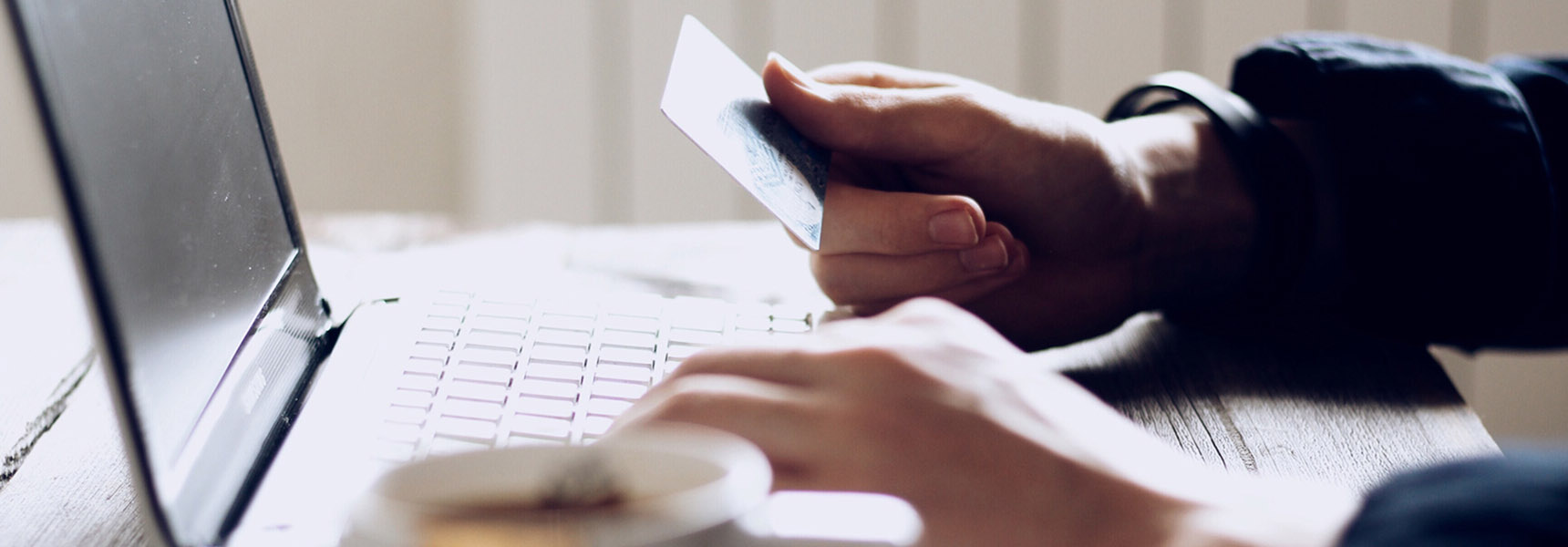 Photo of a person checking their credit score online.