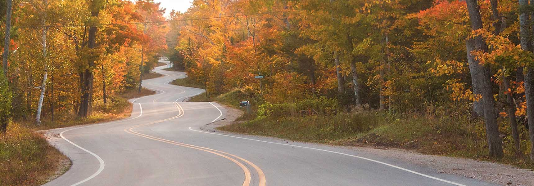 Photo of a winding road indicating the twists and turns of the market reacting to market volatility.