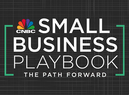 Logo for the CNBC small business playbook.