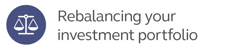 Rebalancing your investment portfolio.