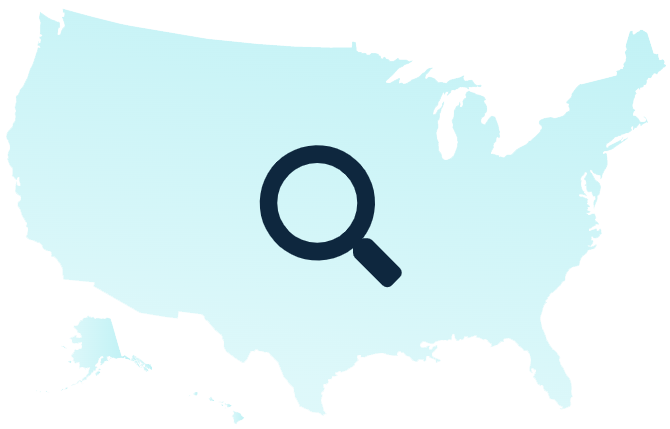 Map of the United States indicating that we can find you a financial professional in your area.