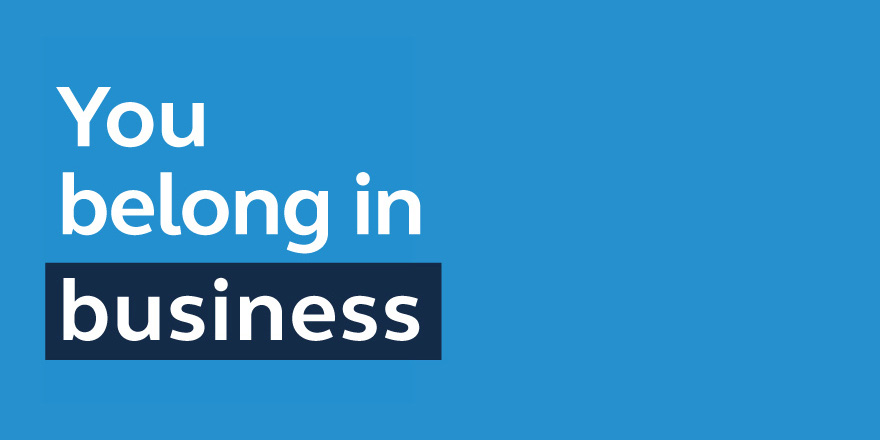 Logo for the you Belong in Business podcast from Principal.
