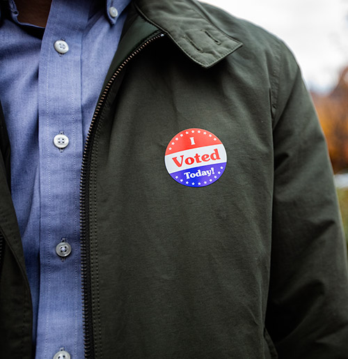 Photo of a man after he voted.