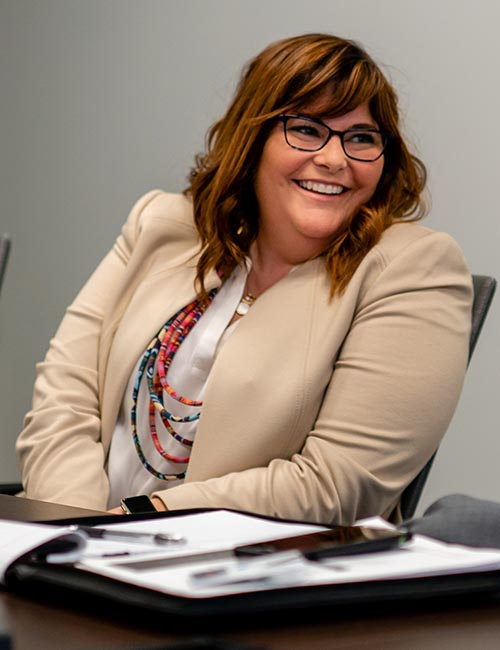 Photo of Heather Winston speaking at a roundtable.