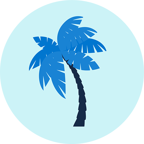 Graphic of a palm tree.