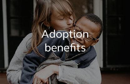 Image saying adoption benefits.