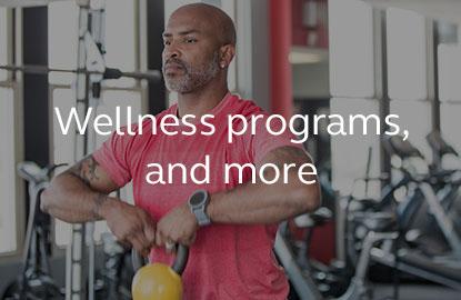 Image saying wellness programs.