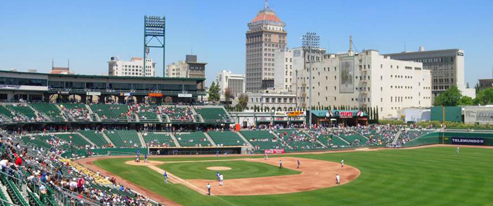 Photo of downtown Fresno, California.