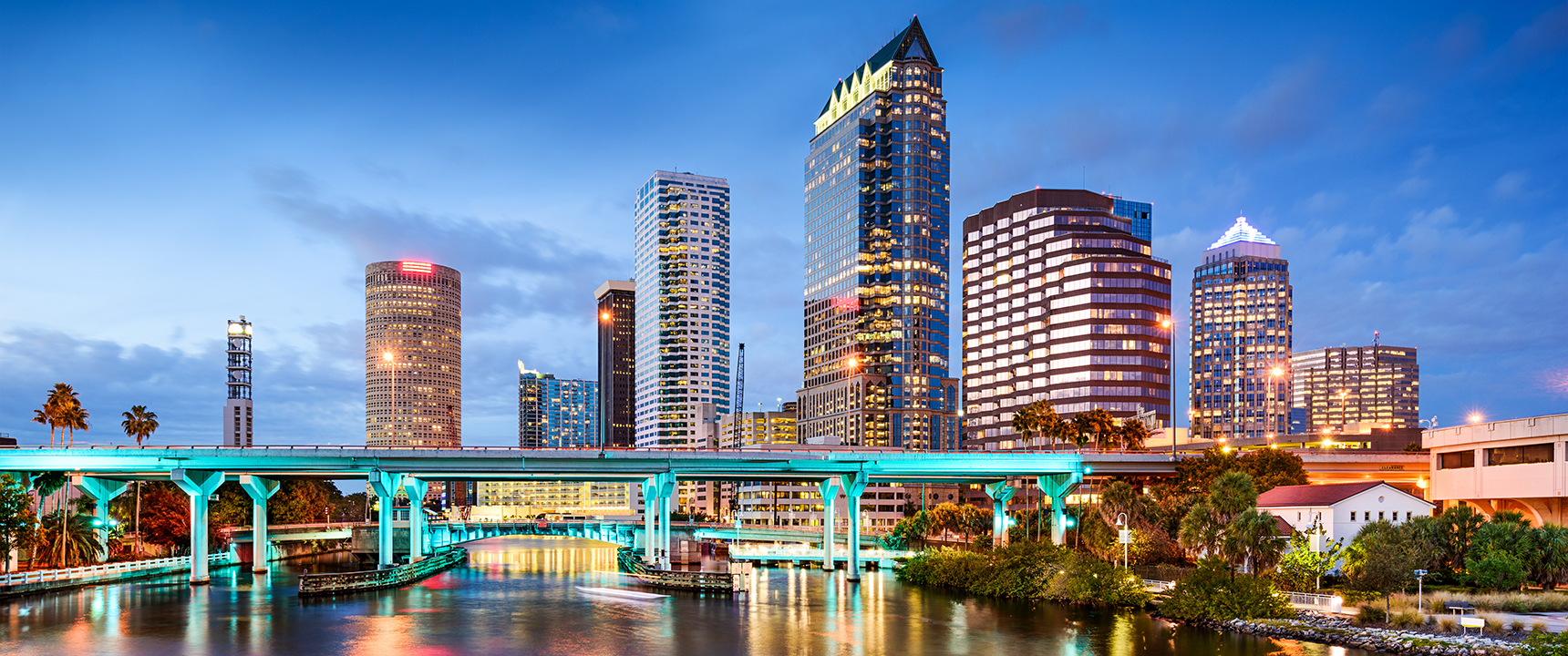 Photo of downtown Tampa, Florida.