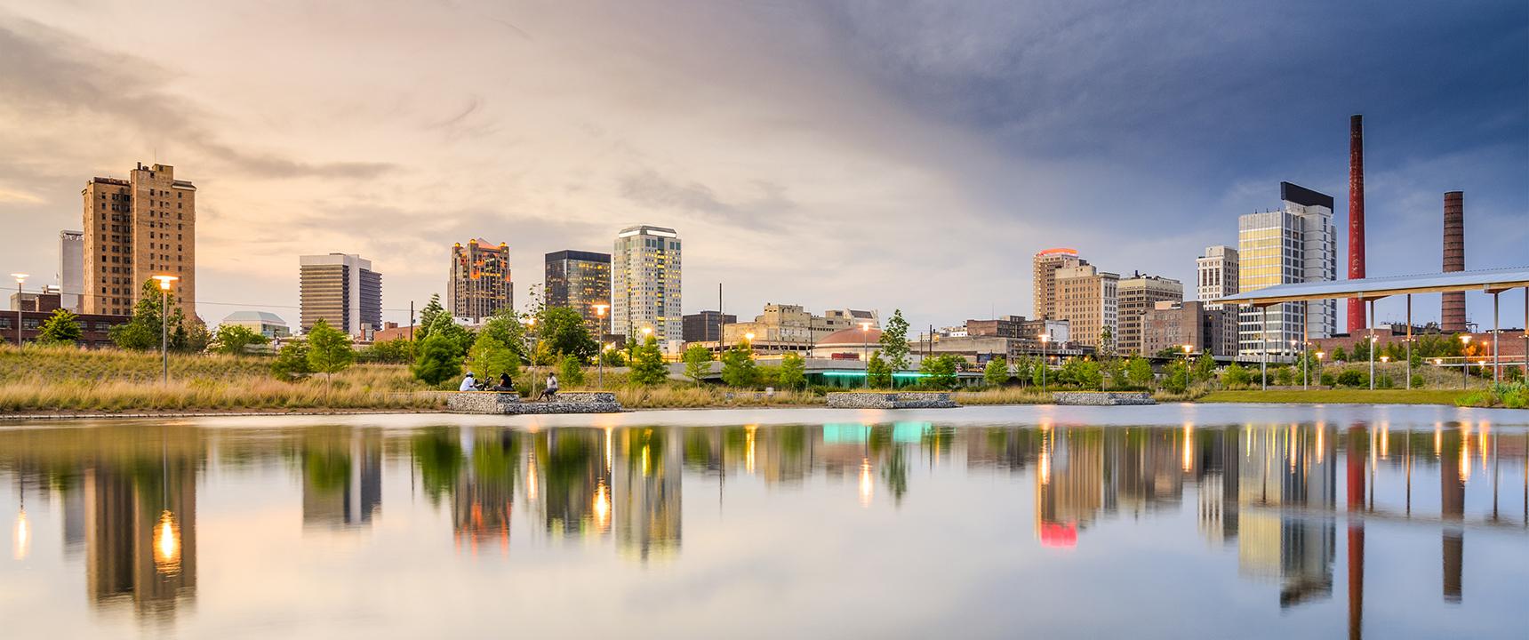 Photo of Birmingham, Alabama where the Principal Financial Network of Alabama is located.