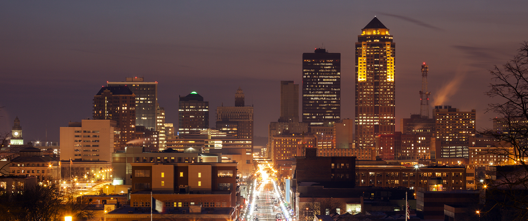 Photo of downtown Des Moines, Iowa.