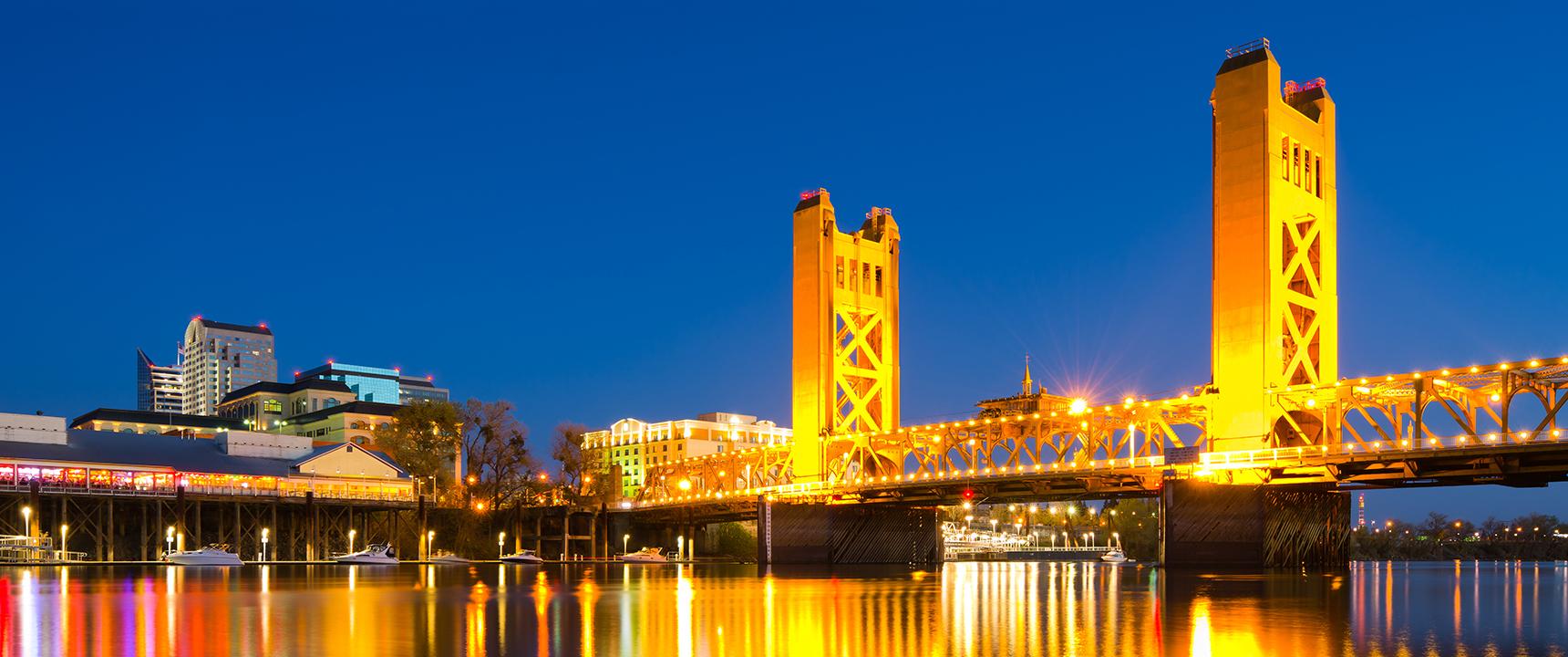 Skyline photo of Sacramento, California.