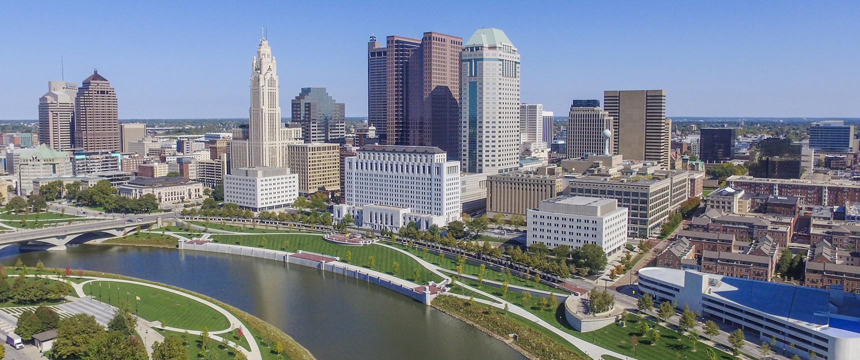 Photo of Columbus, Ohio where the Ohio Business Center is located.