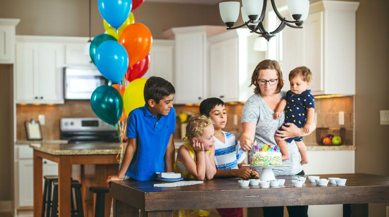 Young mother juggling the demands of life and saving for retirement