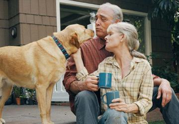 Photo of a couple who have considered housing costs as part of their retirement budget planning.
