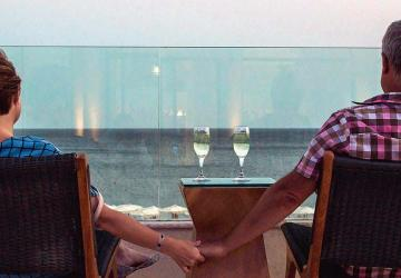 Photo of a couple who are enjoying retirement because they have a plan for withdrawing their retirement savings.