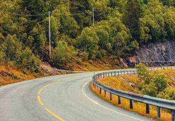 Photo of a winding road.