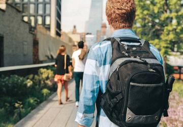 Photo of a student at college.